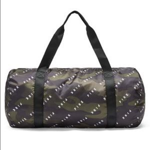 Pink Victoria's Secret package camouflage duffle